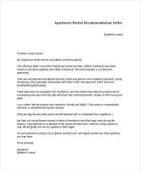 tenant recommendation letter reference letter for a tenant free