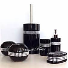 Black Bathroom Accessories by Black Jeweled Rhinestone Bathroom Accessories Tsc