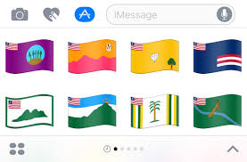 All The State Flags Imessage Stickers U2014 Emojipedia Flag Stickers For Ios 10