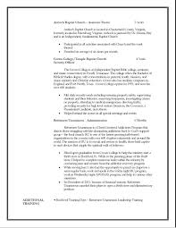 music ministry resume examples church business administrator