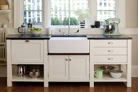 Free Standing Cabinets For Kitchen Kitchen Appealing Cabin Kitchen With Wood Elements And