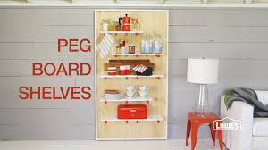 How To Make Wood Shelving Units by Diy Decorative Pegboard Shelving Unit Youtube