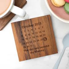 personalised wooden gift never forget coaster by create gift love