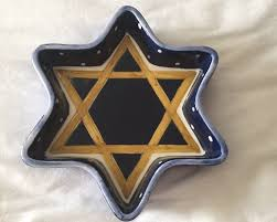 hannukah candy ceramic hanukkah candy dish of david judaica hanukkah