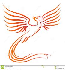 phoenix bird silhouette illustration 24304616 megapixl