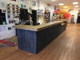Rustic Reception Desk The Survey 20 U0027 Rustic Custom Sales Counter Or Reception Desk