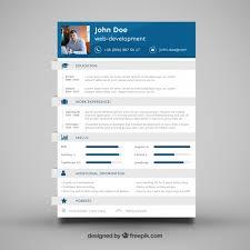web developer cv template vector free download