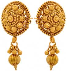 gold earrings tops buy jfl jewellery for less traditional ethnic one gram gold