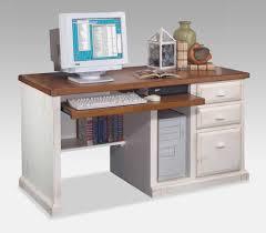 furniture sleek furnishing white computer desk with stand