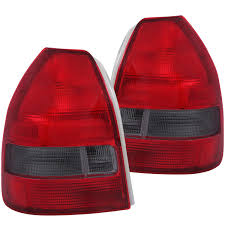 Honda Civic Usa Anzo Usa Honda Civic 96 00 3dr Tail Lights Red Smoke