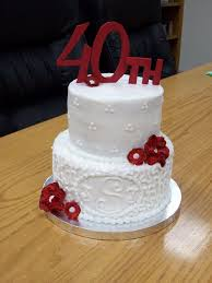 40th wedding anniversary ideas the 25 best 40th anniversary cakes ideas on 40th