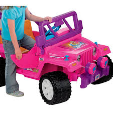 pink jeep bed power wheels barbie jammin jeep wrangler by fisher price on