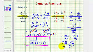ex 2 simplify a complex fraction variables youtube