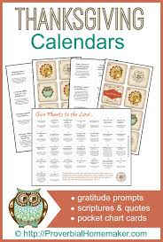thanksgiving gratitude calendars printables gratitude