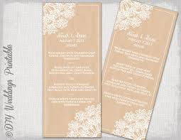 wedding menu templates rustic wedding menu template diy wedding menu lace