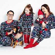 pajamas family matching clothes cotton sleeve