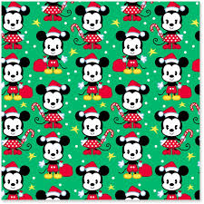 mickey mouse wrapping paper disney mickey and minnie on green christmas wrapping paper roll