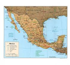 Mexico Map Cities by