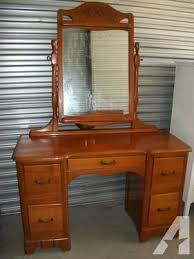 Vanity Dresser With Mirror Antique Estate 1960 U0027s Maple Vanity Dresser With Mirror Very Good