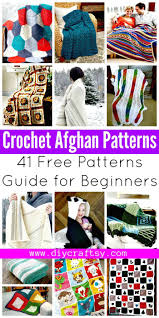 crochet afghan patterns 41 free patterns for beginners diy