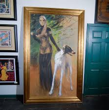 afghan hound club of st louis woman and afghan hound