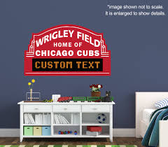 chicago cubs custom marquee vinyl wall decal room decor chicago cubs custom marquee vinyl wall decal room decor personalized wrigley field sign baseball