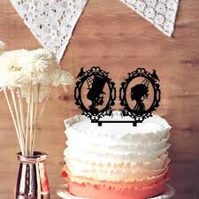 fall wedding cake toppers chic cake topper design skeleton cameo silhouette