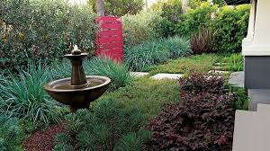 How To Make Your Backyard Private Great Garden Fountain Ideas Sunset