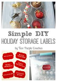 Christmas Decoration Storage Diy by Simple Diy Holiday Storage Labels Two Purple Couches