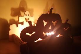 pumpkin halloween decorations wooden candle holder fireplace