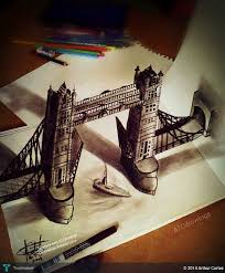 tower bridge 3d anamorphic drawing touchtalent for