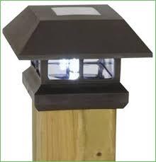 lighting cheap outdoor plastic led solar fence post cap light