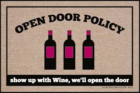 doormat funny open door policy wine doormat funny doormats u2013 high cotton inc