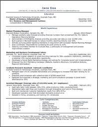 Mba Finance Resume Sample by Resume Coursework In Progress