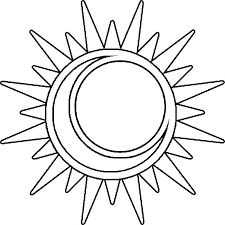 sun and moon coloring pictures earth pages printables day stood