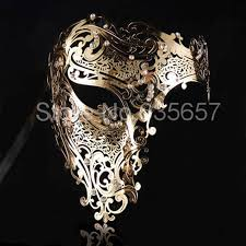 black and gold masquerade masks wholesale silver black gold phantom laser cut venetian mask