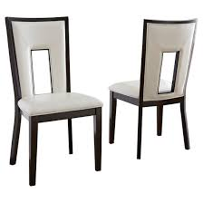 Silver Dining Chairs Broward Dining Chairs Wood White Brown Set Of 2 Steve Silver