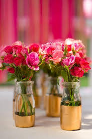 diy centerpiece ideas chic diy gold painted vases for a wedding centerpiece