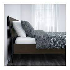 queen size trysil bed frame ikea dark brown furniture in san