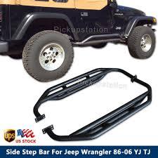 jeep wrangler side for jeep wrangler 86 06 yj tj side step nerf bar tubes steel