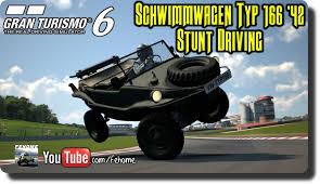 volkswagen schwimmwagen gt6 volkswagen schwimmwagen typ 166 u002742 stunt driving youtube