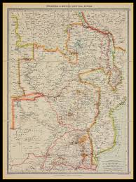 Map Of Nd Old Map Of Rhodesia U0026 Central Africa Showing Gold Fields Circa 1900