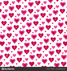 pattern of valentine day hearts u2014 stock vector scrapster 134225100