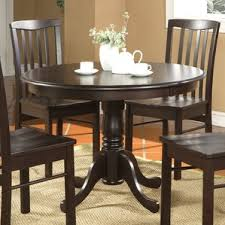 Round Kitchen  Dining Tables Youll Love Wayfair - Round dining room tables for 4