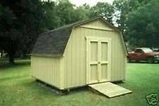 12 X 20 Barn Shed Plans Shed Plans Ebay