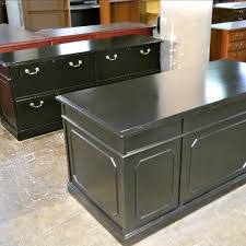 Kimball Office Desk Refinished Kimball Black Desk And Credenza Office Furniture