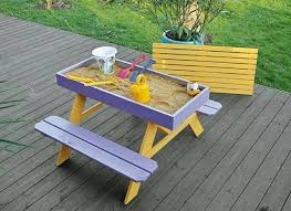 Make Your Own Picnic Table Bench by Diy Sandbox Picnic Table Two In One