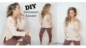 Distressing Diy by Diy Distressed Sweatshirt Yeezy U0026 Kardashian Inspired