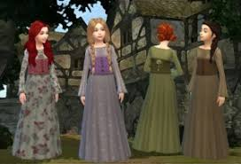 medieval dress for girls by my stuff sims 4 nexus