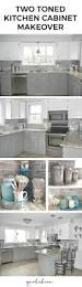 best ideas about gray subway tile backsplash pinterest kitchen cabinet makeover oak cabinets two toned gray and white chelsea